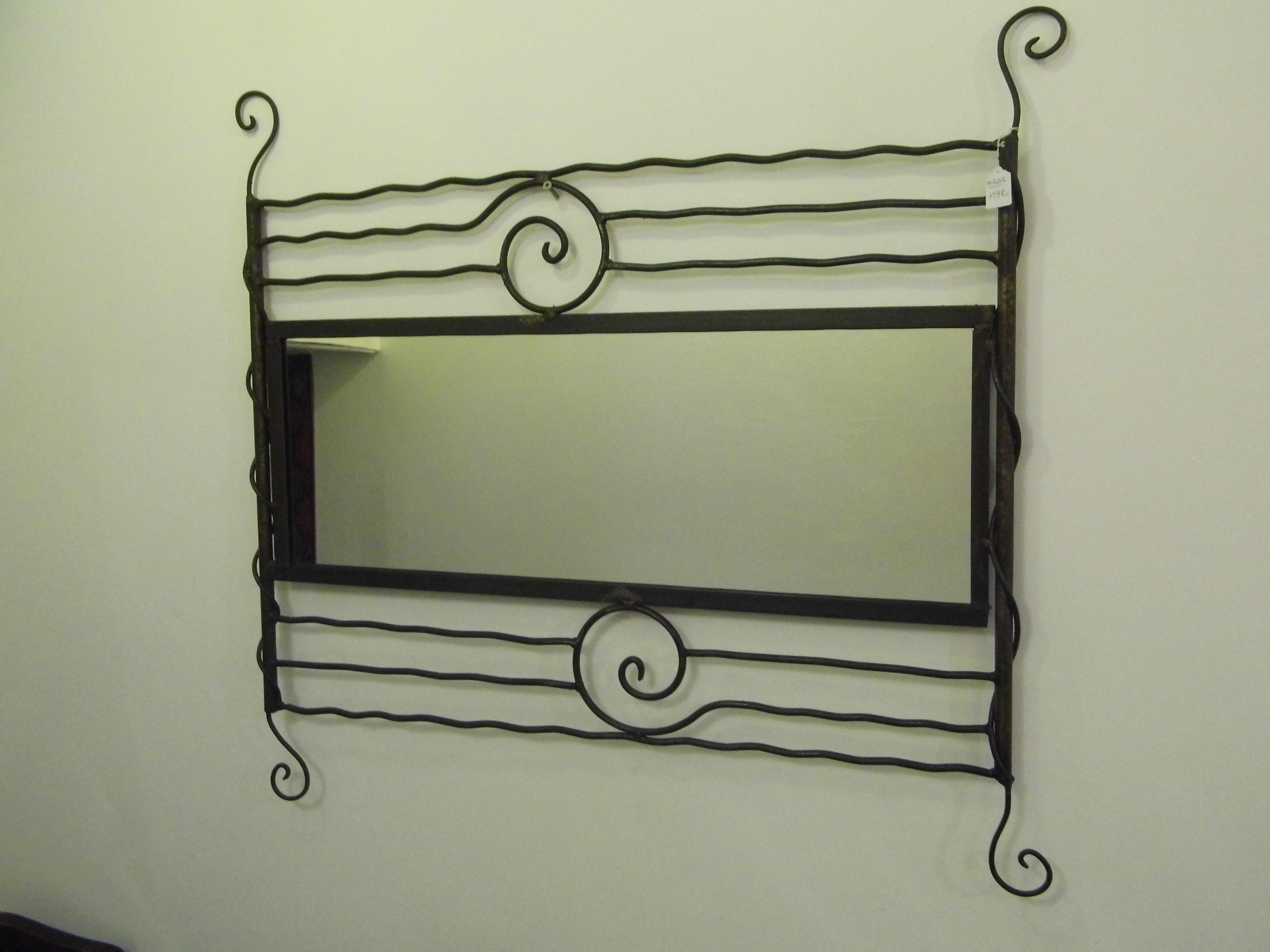 Miroir en fer forg la fibule besan on for Miroir en fer forge